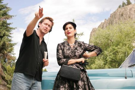 Fido Director Andrew Currie with Carrie Anne Moss. Photo credit: Michael Courtney