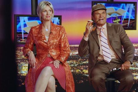 Jane Lynch  as Cindy and Fred Willard as Chuck in director Christopher Guest's For Your Consideration. Photo credit: Suzanne Tenner © 2006 Shangri-La Entertainment, LLC.
