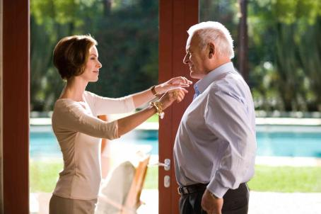 "Embeth Davidtz  (left) stars as ""Jennifer Crawford"" and Anthony Hopkins (right) stars as ""Ted Crawford"" in New Line Cinema's release of Greg Hoblit's FRACTURE. Photo Credit: ©2007 Sam Emerson/New Line Cinema"