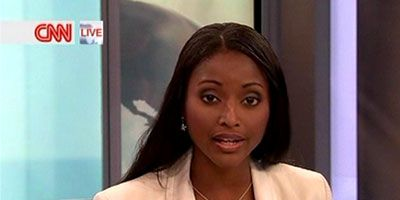 Isha Sesay  Delivers The News in A Beautiful Soft Peach Blazer