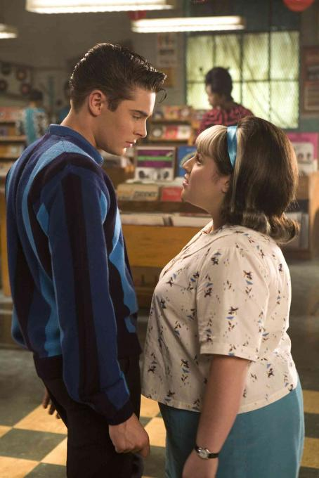 "Nikki Blonsky Zac Efron (left) stars as ""Link Larkin"" and  (right) stars as ""Tracy Turnblad"" in New Line Cinema's upcoming release of Adam Shankman's HAIRSPRAY. Photo Credit: ©2007 David James/New Line Cinema"