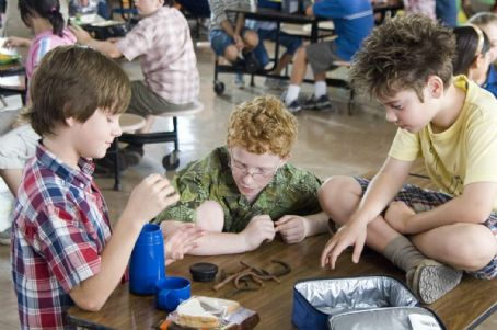 "Luke Benward (left to right)  stars as ""Billy,"" Andrew Gillingham stars as ""Techno Mouth"" and Alexander Gould stars as ""Twitch"" in New Line Cinema's upcoming family release, How To Eat Fried Worms. Photo Credit: &#"