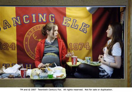 Olivia Thirlby From left: Ellen Page and  in JUNO. Photo Credit: Doane Gregory