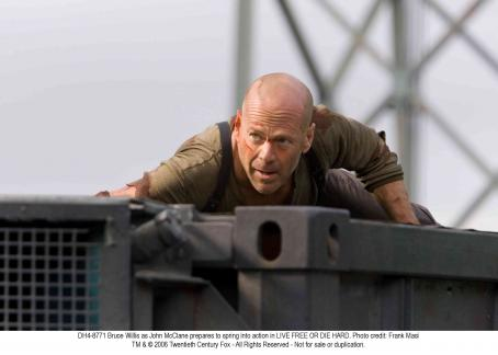 Live Free or Die Hard Bruce Willis reprises his signature role as the New York City cop who always finds himself in the wrong place at the wrong time, in a new installment of Twentieth Century Fox's Die Hard action franchise: LIVE FREE OR DIE HARD. Photo credit: Frank Masi