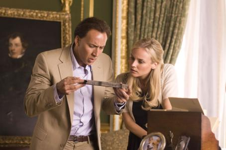 National Treasure: Book of Secrets Nicolas Cage as Ben Gates and Diane Kruger as Abigail Chase in Jon Turteltaub adventures' .