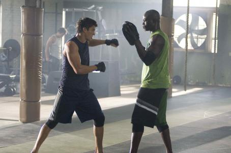 Never Back Down Sean Faris and Djimon Hounsou in . Photo Credit: Gene Page. © 2007 Summitt Entertainment N.V. All Rights Reserved.