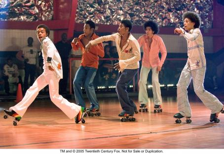 Brandon T. Jackson Bow Wow, Marcus T. Paulk, , Rick Gonzalez and Khleo Thomas in Fox Searchlight's forthcoming drama Roll Bounce.