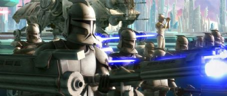 Star Wars: The Clone Wars A scene from the upcoming .