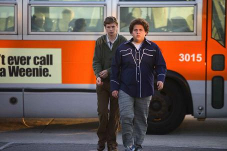 Jonah Hill Evan (Michael Cera, left) and Seth (, right) can have the night they'll remember for the rest of their lives in Superbad, the new film from producers Judd Apatow and Shauna Robertson (The 40-Year-Old Virgin), screenwriters Seth Rogen & Eva
