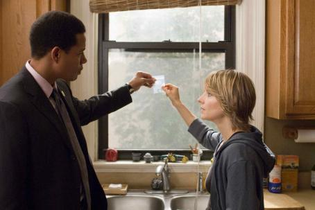 The Brave One Terrence Howard as Mercer and Jodie Foster as Erica in Warner Bros. Pictures'