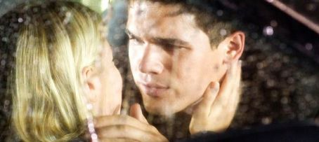 Laura Ramsey Sarah () and Caleb (Steven Strait) in Columbia Pictures', The Covenant 2006.