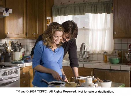 Nathan Fillion Keri Russell gives  a lesson in baking pies. Photo Credit: Alan Markfield