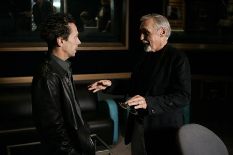 Inside Deep Throat Academy Award - winning producer Brian Grazer and Dennis Hopper, producer and narrator.