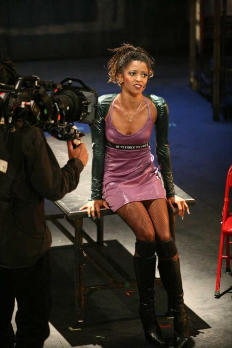 Renee Goldsberry RENT: FILMED LIVE ON BROADWAY Pictured: Renée Elise Goldsberry as Mimi. Photo: Casey Stouffer. ©2008 Columbia Pictures Industries, Inc.