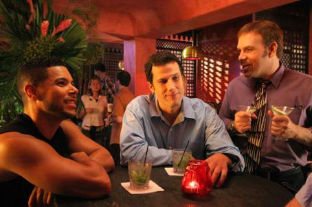 Coffee Date Wilson Cruz as Kelly, Jason Stuart as Clayton and Jonathan Bray as Todd in Film and Music Entertainment and TLA Releasing '.'