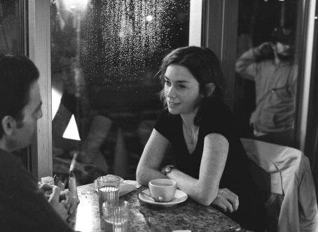 Julianne Nicholson A magical evening in a New York diner Nicole () meets the of her dream (Justin Kirk) in a scene from Jeff Lipsky's romantic drama Flannel Pajamas.
