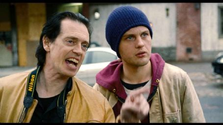 Delirious Steve Buscemi as Les Galantine and Michael Pitt as Toby Grace in Peace Arch Films'