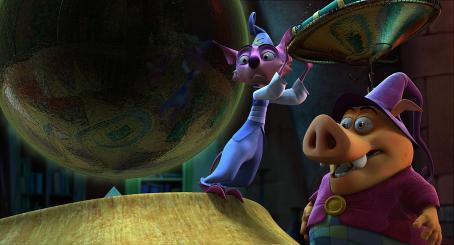 Andy Dick Mambo (voiced by ) and Munk (voiced by Wallace Shawn) in HAPPILY N'EVER AFTER. Photo credit: Lionsgate