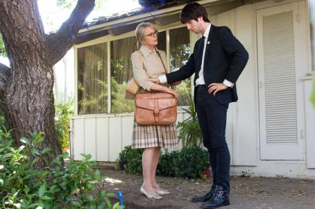 Jon Heder Diane Keaton as Jan and  as Jeffrey in director Tim Hamilton's MAMA'S BOY, a Warner Independent Pictures release. Photo by Darren Michaels