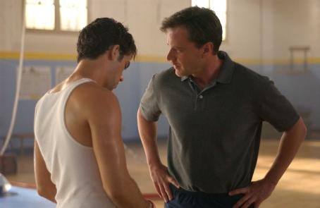 Scott Mechlowicz Dan Millman () and Coach Garrick (Tim Dekay) in PEACEFUL WARRIOR.