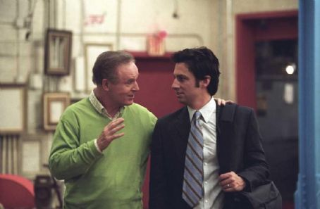 Charles Grodin Zach Braff and  star in Jesse Peretz's The Ex. Photo by: Courtesy of The Weinstein Company. Photographer: Demmie Todd