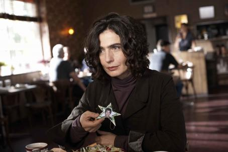 "Adoration ""Sabine (Arsinee Khanjian) at the diner"" Photo: Sophie Giraud. ©  Productions. Courtesy of Sony Pictures Classics. All Rights Reserved."