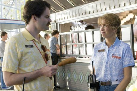 Kristen Wiig Bill Hader as Bobby and  as Paulette in Adventureland.