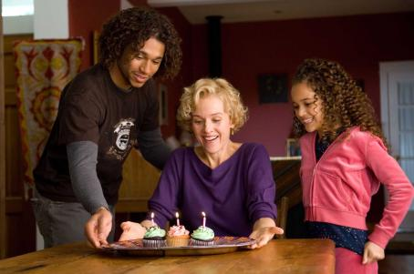Madison Pettis Corbin Bleu as Cale, Penelope Ann Miller as Jeanette, and  as Bailey in FREE STYLE. Credit: Marcel Williams / Samuel Goldwyn Films.