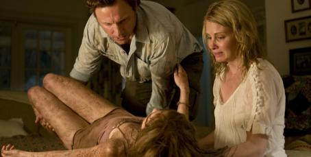 Tony Goldwyn  as John, Monica Potter as Emma and Sara Paxton as Mari in Dennis Iliadis horror thriller 'The Last House on the Left'
