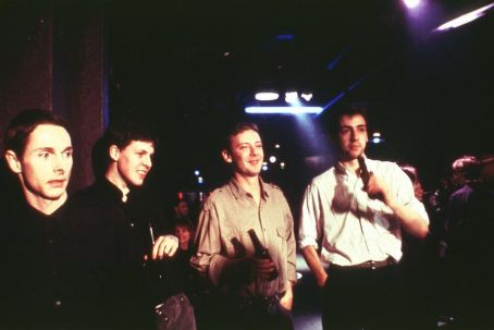 John Simm Sean Harris, Tim Horrocks,  and Ralf Little in MGM's 24 Hour Party People - 2002