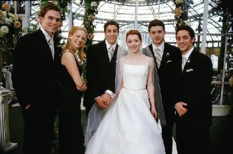 Seann William Scott The bridal party: Stifler(), Cadence (January Jones), Jim (Jason Biggs), Michelle (Alyson Hannigan), Finch (Eddie Kaye Thomas) and Kevin (Thomas Ian Nicholas)