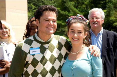 Donny Osmond  and Margo Harshman in COLLEGE ROAD TRIP.