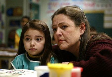 Ariel Gade Left:  as Ceci; Right: Camryn Manheim as Teacher.