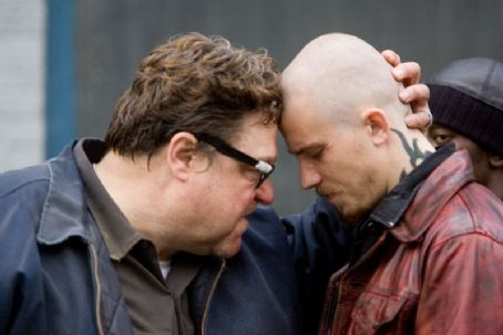 John Goodman  as Bones Darly and Garrett Hedlund as Billy Darly in Death Sentence.