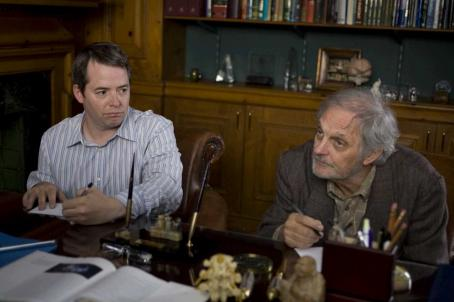 Alan Alda Matthew Broderick as Cooper and  as Rollie in DIMINISHED CAPACITY directed by Terry Kinney. Photo credit: Jessica Miglio. An IFC Films release