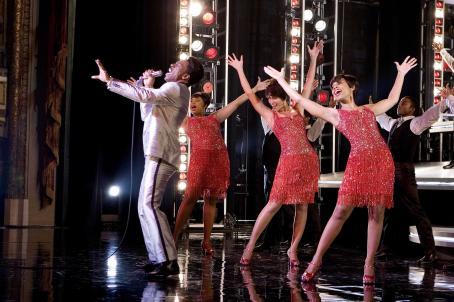 Anika Noni Rose Eddie Murphy as James 'Thunder' Early with (L to R) Jennifer Hudson as Effie White, Beyoncé Knowles as Deena Jones and  as Lorrell Robinson in Dreamgirls - 2006