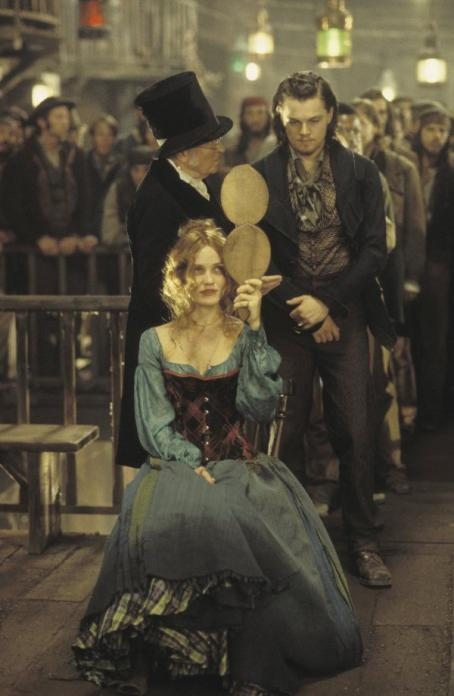 Gangs of New York Cameron Diaz and Leonardo DiCaprio in Miramax's  - 2002