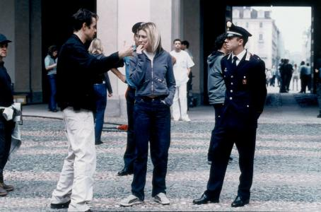 Giovanni Ribisi Director Tom Tykwer with Cate Blanchett and  on the set of Miramax's Heaven - 2002