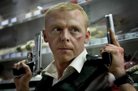 Hot Fuzz Simon Pegg star as Nicholas Angel in Edgar Wright comedy '' 2007