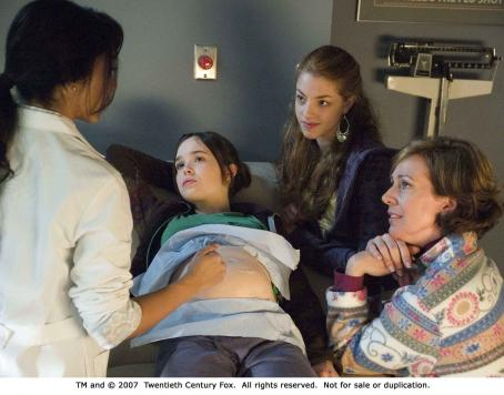 Olivia Thirlby From left: Ellen Page,  and Allison Janney in JUNO. Photo Credit: Doane Gregory