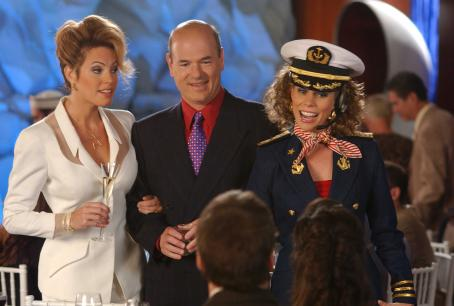 Sandra Taylor (Left)  as Raylene Stein and (Middle) Larry Miller as Arnie Stein in director Scott Marshall's movie, Keeping Up with the Steins - 2006. Photo credit: Eric McCandless