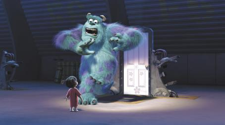 Monsters, Inc. Boo (Mary Gibbs) and Sullivan (John Goodman) in Disney's  - 2001