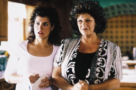 Lainie Kazan Nia Vardalos and  in IFC's My Big Fat Greek Wedding - 2002