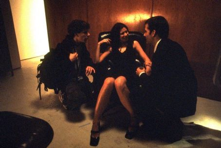 Jesse Eisenberg , Mina Badie and Campbell Scott in Artisan's Roger Dodger - 2002