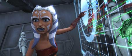 Star Wars: The Clone Wars Padawan learner Ahsoka gives her outspoken opinion in a scene from the upcoming ',' the first-ever animated Star Wars project from Lucasfilm Animation and Star Wars creator George Lucas. ''