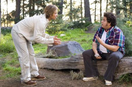 "Jonah Hill ""Strange Wilderness"" TV show host Peter Gaulke (Steve Zahn, left) is having some problems with his lazy gopher Cooker (, right) in ""Strange Wilderness."" Photo Credit: Darren Michaels. © 2007 by Paramount Pictures. All Rig"