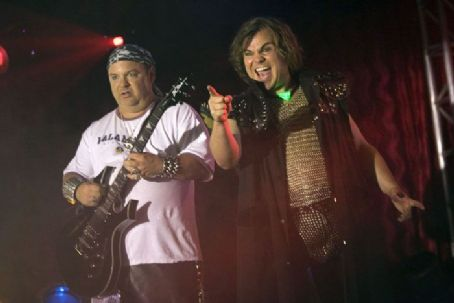 Kyle Gass Jack Black as JB and  as KG in Tenacious D in the Pick of Destiny, a  New Line Cinema