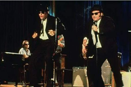 John Belushi Dan Aykroyd and  in The Blues Brothers.