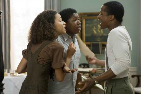 Nate Parker Jurnee Smollett (Samantha), Denzel Whitaker (James Farmer Jr) and  (Henry Lowe) star in Denzel Washington's The Great Debaters. Photo by: David Lee/TWC 2007.