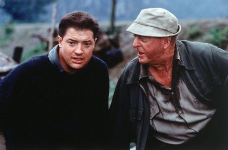 The Quiet American Brendan Fraser and Michael Caine in Miramax's  - 2002